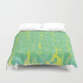 Green Splatter Duvet Cover