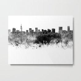 Pretoria skyline in black watercolor Metal Print