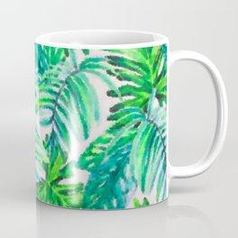 Abstract Leaf Painting Coffee Mug