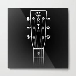Martin Acoustic Guitar OM 42 Headstock - Music,Jazz,folk,blues,rock Metal Print