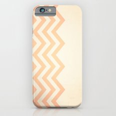 Orange Textured Chevron iPhone 6s Slim Case