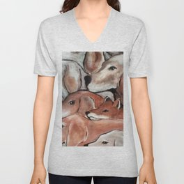 Fox Hunt Unisex V-Neck