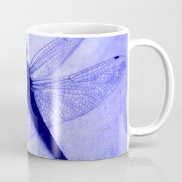 Dragonfly Frozen in Blue Coffee Mug