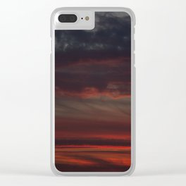beautiful clouds and color at sunset Clear iPhone Case