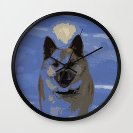 IcelandicSheepdog_20150401_by_JAMFoto Wall Clock