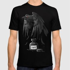 Ink Raven Mens Fitted Tee LARGE Black