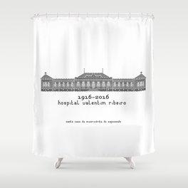 HexArchi   Portugal, Esposende, Hospital Valentim Ribeiro Shower Curtain