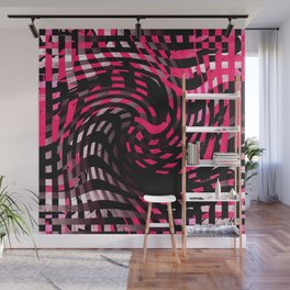 Abstract Graphic Pink Neon Wall Mural