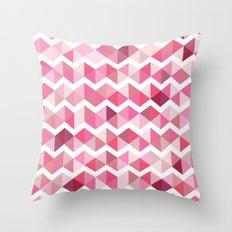 Pink chevron Throw Pillow