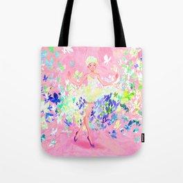 Butterflies dress petal pink Tote Bag