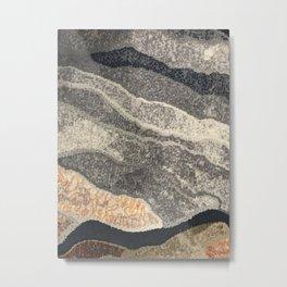 Elegant Black and Gray Pattern Metal Print