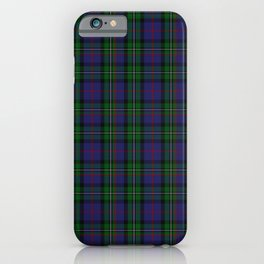 McPhail Tartan with Clan Name iPhone Case