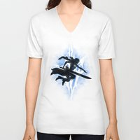 returns V-neck T-shirts featuring Lightning Returns by Six Eyed Monster