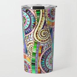 Mosaic colorful background Travel Mug
