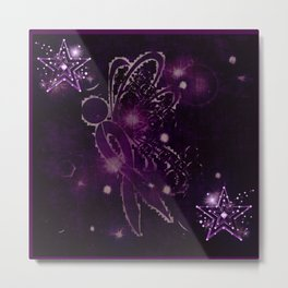 Power Purple For a Cure - Shooting Star Metal Print