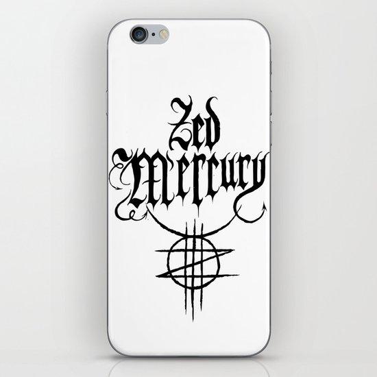 ZED MERCURY: PSYCHOPOMP LOGO - White iPhone Skin