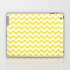 funky chevron yellow pattern Laptop & iPad Skin