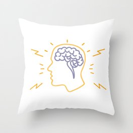 Human Brain Activity Monoline Throw Pillow