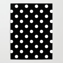 Black Polka Dots Palm Beach Preppy Poster