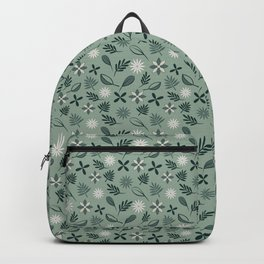 Cool greens pattern Backpack