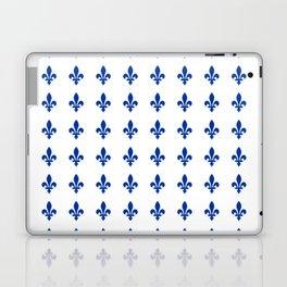 Blue Fleur De Lis Print Laptop & iPad Skin