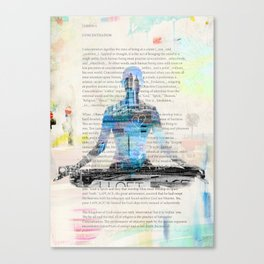 Yoga Book. Lesson 1 Concentration - painting - art print  Canvas Print