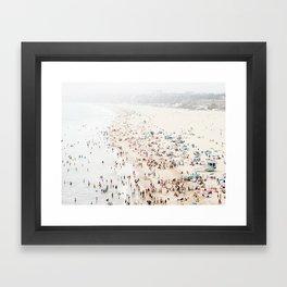 Santa Monica Beach Art Print. Los Angeles California Beach Art Framed Art Print