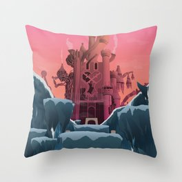 Hollow Bastion (Kingdom Hearts) Travel Poster Throw Pillow