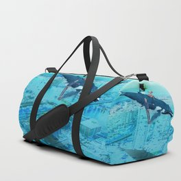 Dancing with whales Duffle Bag