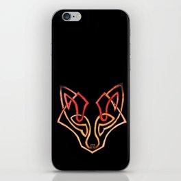 Celtic fox - celtic knot iPhone Skin