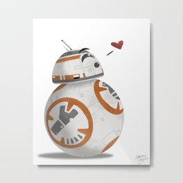 Droid Kisses Metal Print