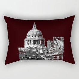St Pauls Cathederal, London. B&W Rectangular Pillow