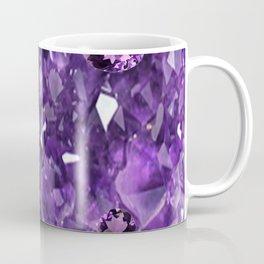 FEBRUARY PURPLE AMETHYST GEMS & CRYSTALS BIRTHSTONE Coffee Mug
