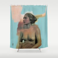 bali Shower Curtains featuring Bali by Organic Mind