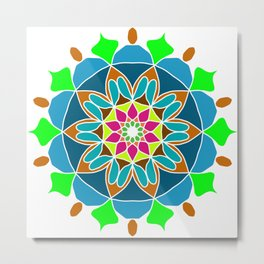 Meditation mandala in soft colors Metal Print