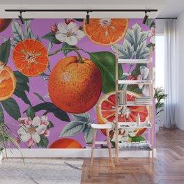 Vintage Fruit Pattern X Wall Mural