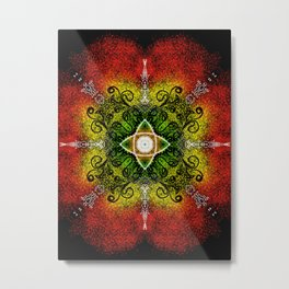 ART EVOLVES CONSCIOUSNESS - EACH GLIMPSE AT THE ART IS A TRANSFORMATION OF THE OBSERVER  Metal Print