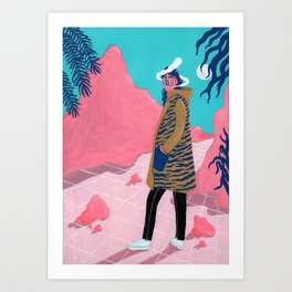 BETWEEN THE MOUNTAINS 2 Art Print
