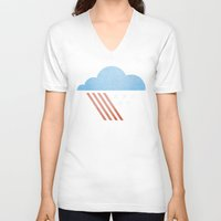 patriotic V-neck T-shirts featuring Patriotic Weather. by Nick Nelson
