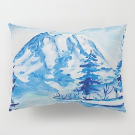 Winter Mt. Rainier Pillow Sham