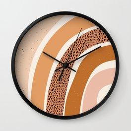 Earth Color Rainbow Wall Clock