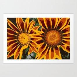 Marigolds so Bold - Pop Art Artwork Canvas Graphic Print Art Print