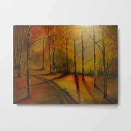 Woodland Sunset Metal Print