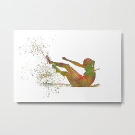 Athletics runner in watercolor Metal Print
