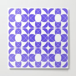 Abstract pattern - blue and white. Metal Print