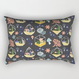 Succulent & Cactus Terrariums Rectangular Pillow