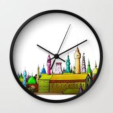 fabulous city painted Wall Clock