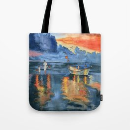 Where are last night's lights Tote Bag
