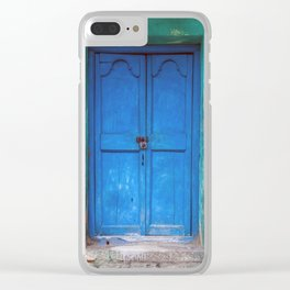 Blue Indian Door Clear iPhone Case