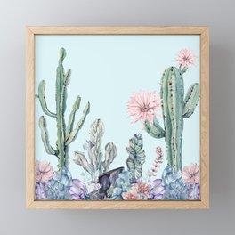 Desert Gemstone Oasis Turquoise Framed Mini Art Print